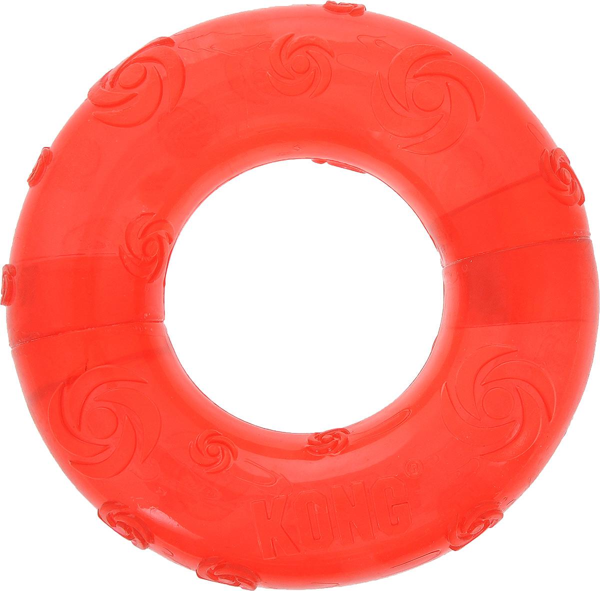 Игрушка для собак Kong Кольцо, с пищалкой, цвет: красный, 15 х 15 х 3,5 смPSR1_красныйИгрушка Kong Кольцо выполнена из высококачественной синтетической резины в виде большого кольца. Пищалка спрятана таким образом, чтобы собака не могла вынуть ее. Такая игрушка привлечет внимание вашего любимца и не оставит его равнодушным.