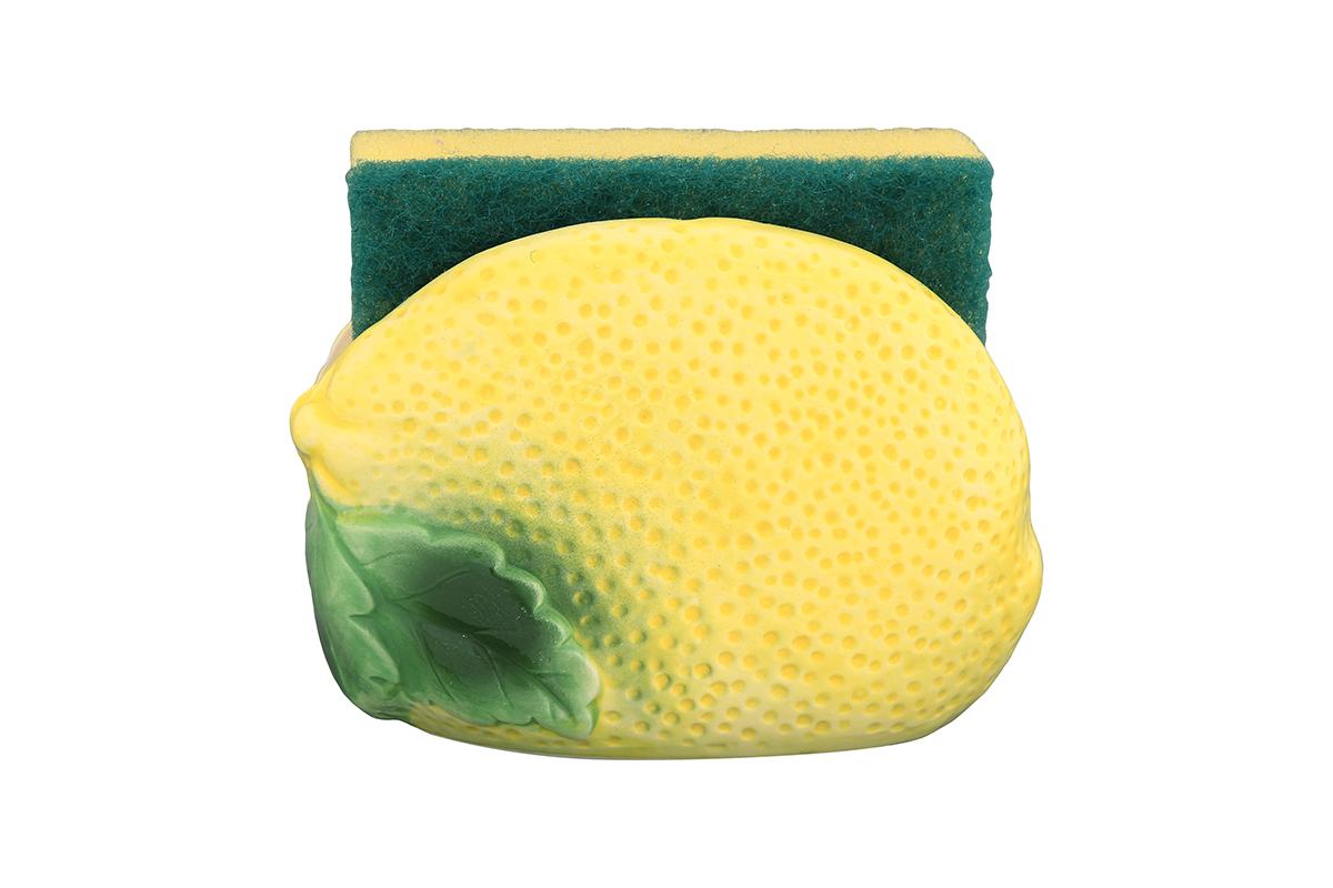 Подставка для губки Elan Gallery Лимон, с губкой, 11 х 6 х 8 см110732/лимон/Яркий и полезный аксессуар для кухни. Губка в комплекте.