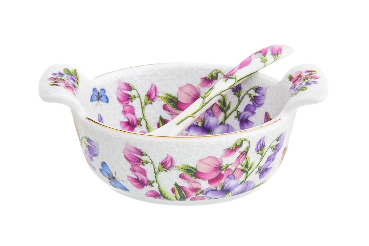 Солонка - кадушка Elan Gallery Душистый цветок,с ложкой, 100 мл. 11,5 х 7,5 х 4,5 см180712/цветок/Солонка-кадушка для специй с крышкой и ложечкой в комплекте может использоваться как солонка или как соусница. Миниатюрная, изящная украсит Вашу сервировку в повседневной жизни. Изделие имеет подарочную упаковку, поэтому станет желанным подарком для Ваших близких!