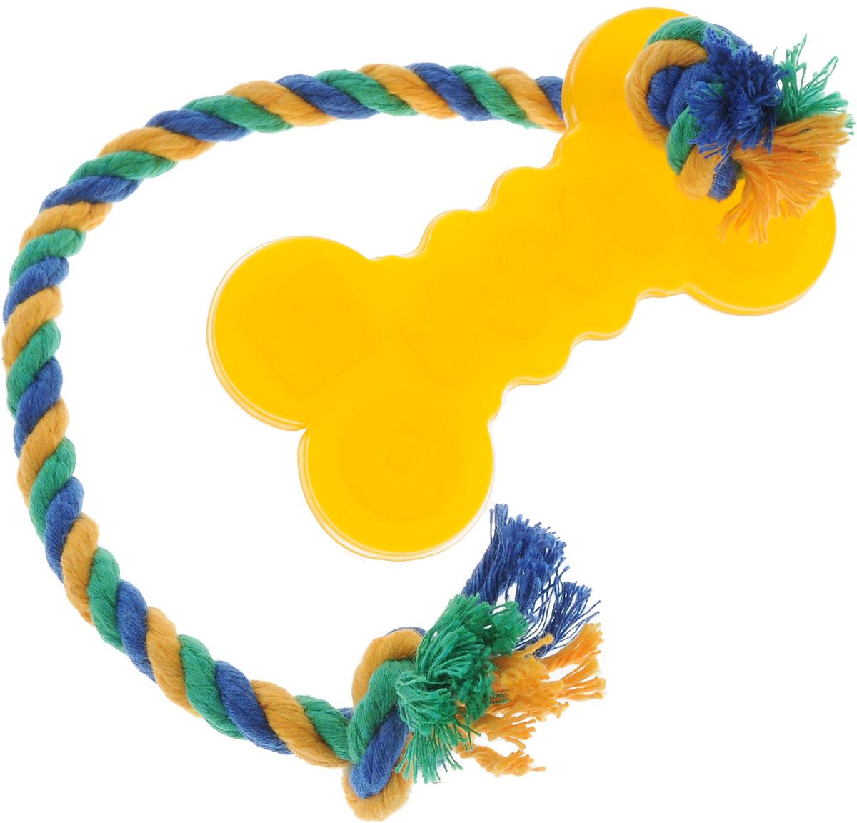 """Игрушка для собак Doglike """"Кость малая"""", с канатом, длина 37 см D11-1099"""