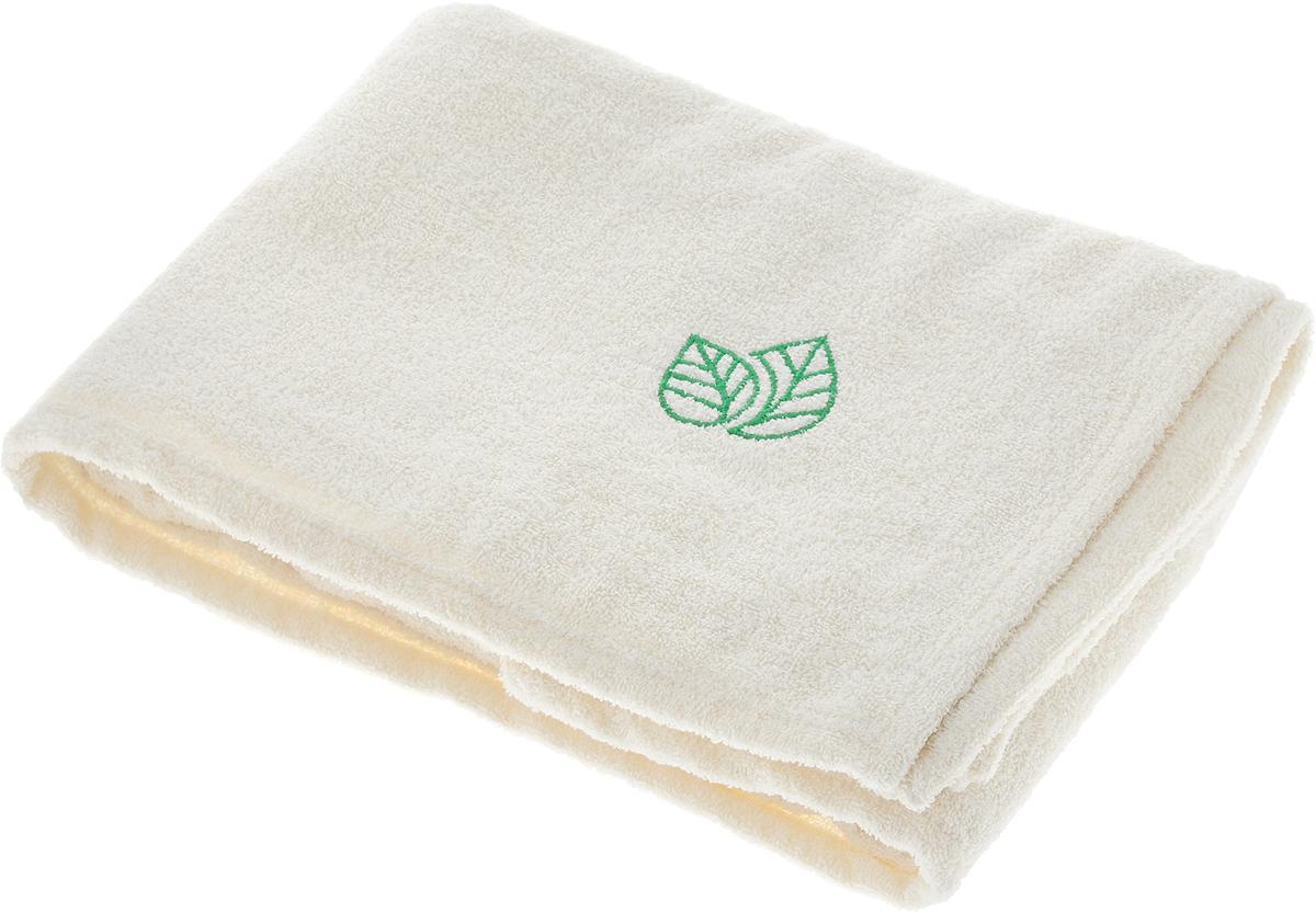 Простыня для бани и сауны Доктор Баня, с вышивкой, 150 х 100 см905662Махровая простыня для бани и сауны Доктор Баня изготовлена из натурального хлопка. Изделие дополнено оригинальной вышивкой в виде двух листочков. В парилке можно лежать на ней, после душа вытираться, а во время отдыха использовать как удобную накидку. Такая простыня идеально подойдет каждому любителю бани и сауны. Размер изделия: 150 х 100 см.
