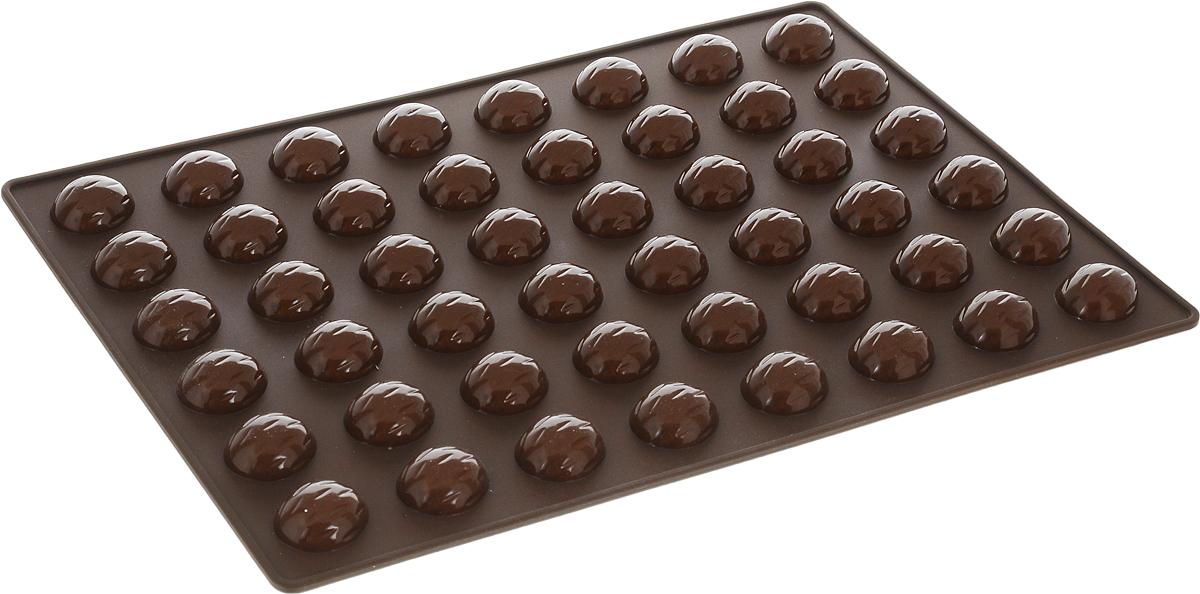 Форма для выпечки орешков Tescoma Delicia Silicone, силиконовая, 48 ячеек, 32 х 22 см629353Форма для выпечки Tescoma Delicia Silicone выполнена из высококачественного гибкого термостойкого силикона. Формы из силикона выдерживают температуру до +230°C. Их не нужно смазывать маслом, пища не пригорает и не липнет к стенкам. Извлекать выпечку из таких форм очень удобно и просто. Форму можно использовать для выпечки орешков или как форму для шоколада Форму можно ставить в духовку, холодильник/морозильную камеру и мыть в посудомоечной машине. Размер формы: 32 х 22 см. Размер ячейки: 2,9 х 2,4 х 1 см. Количество ячеек: 48 шт.