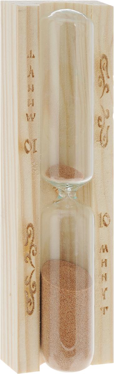 Часы песочные для бани и сауны Доктор Баня, 10 минут905573Песочные часы Доктор Баня выполнены из дерева и термостойкого стекла. Они предназначены для использования в бане и сауне. Часы не боятся высоких температур и влажности. Благодаря таким часам, вы сможете правильно определить длительность процедур. Часы рассчитаны на 10 минут. Размер изделия: 3 х 4,3 х 15 см.