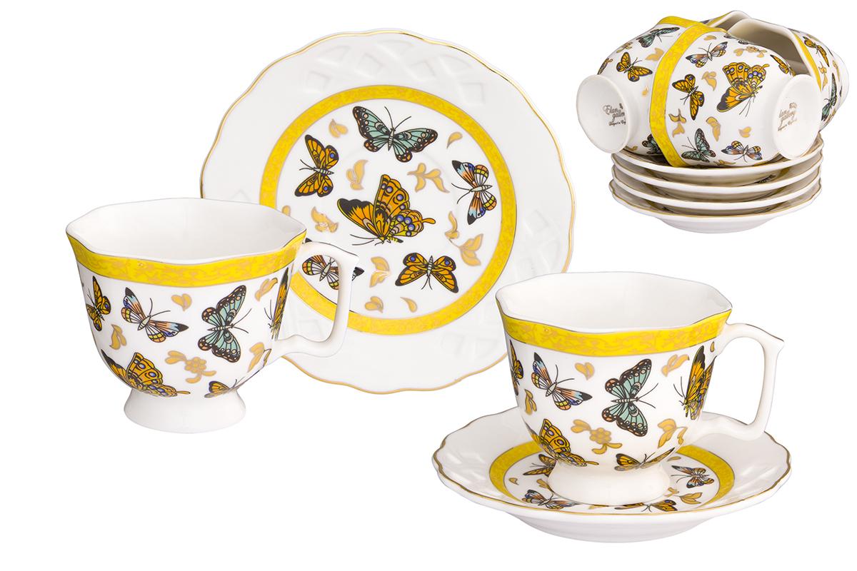 Кофейный набор Elan Gallery Бабочки, 12 предметов181005/бабочкиКофейный сервиз на 6 персон включает 6 чашек объемом 130 мл, 6 блюдец, и станет достойным подарком для любителей кофе.Соберите всю коллекцию предметов сервировки Бабочки и Ваши гости будут в восторге! Изделие имеет подарочную упаковку.