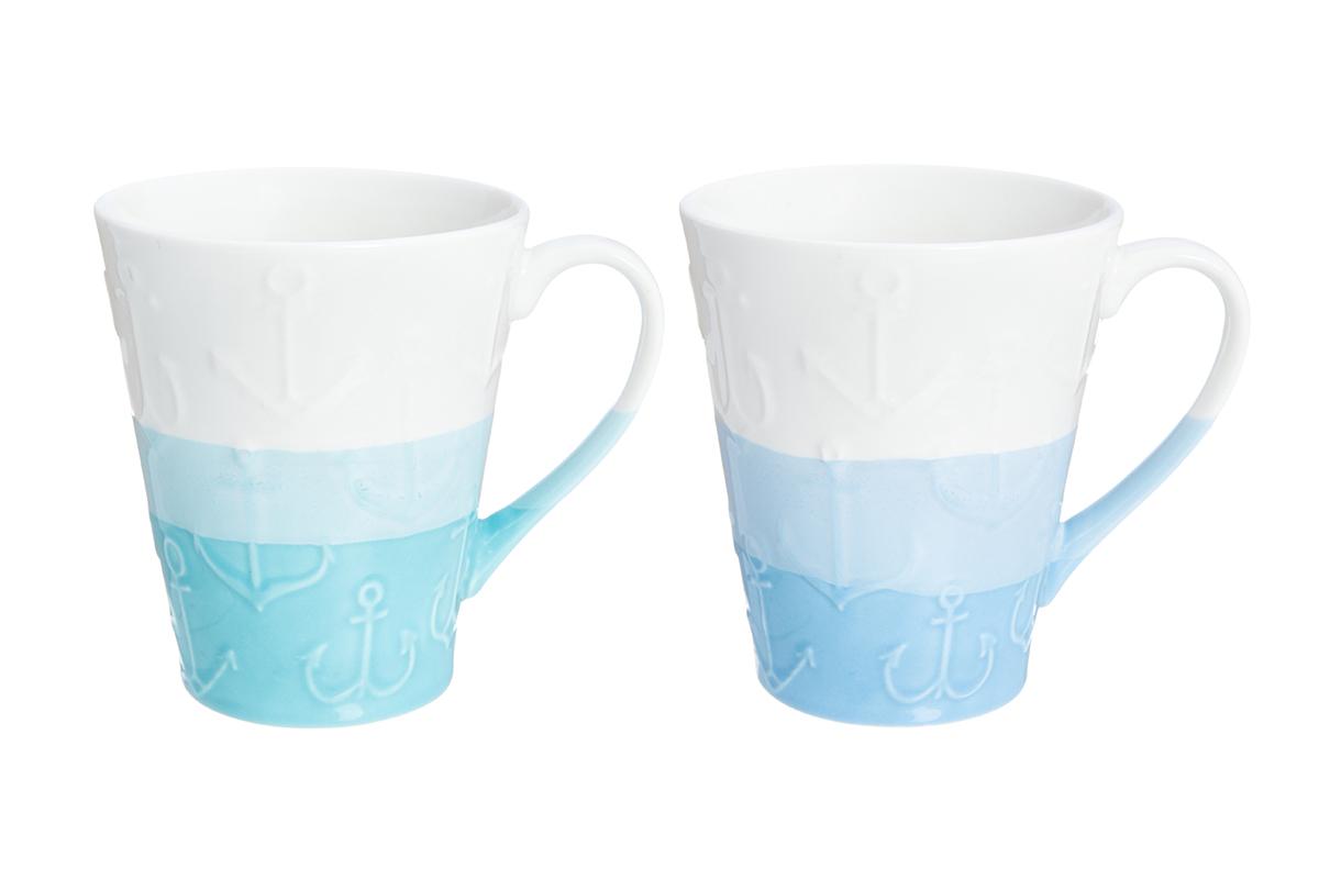 Набор кружек Elan Gallery Якорь, цвет: белый, голубой, 350 мл, 2 шт230111/якорьНабор из двух кружек не только сделают Ваше чаепитие очень приятным, но и станет желанным подарком для Ваших близких! Продукт изготовлен из качественных материалов приятного оттенка. Кружки Elan Gallery превосходно дополнят ваш стиль одежды и преподнесут вас в выгодном свете и в театре и в парке. Представленная вещь будет хорошим приобретением или презентом другу. Объем кружек: 350 мл.