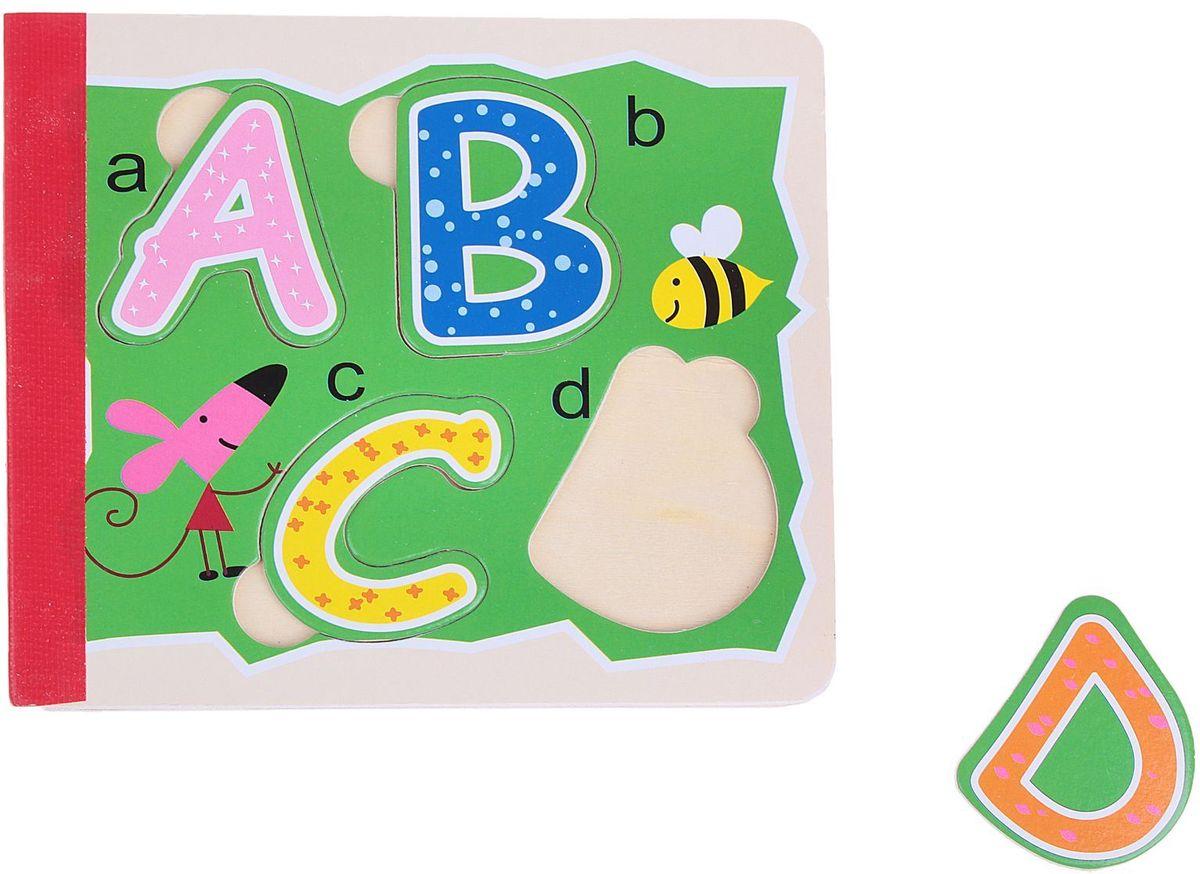 Лесная мастерская Пазл-вкладыш для малышей Изучаем английский язык 1156855
