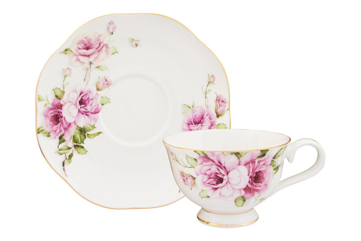 Чайная пара Elan Gallery Амалия, 2 предмета, 220 мл530069/амалияИзысканный чайный набор с цветочным декором на 1 персону украсит Ваше чаепитие. В комплекте 1 чашка объемом 220 мл, 1 блюдце. Изделие имеет подарочную упаковку, поэтому станет желанным подарком для Ваших близких! Соберите всю коллекцию предметов сервировки Амалия и Ваши гости будут в восторге!