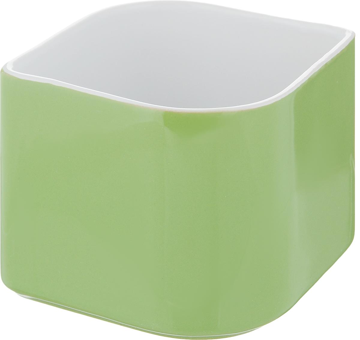 Декоративный цветочный горшок Tescoma Sense цвет: зеленый, 899030899030_зеленыйДекоративный цветочный горшок Tescoma Sense цвет: зеленый, 899030
