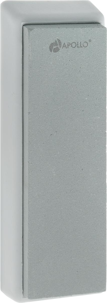 Точильный камень Apollo Zorro, цвет: серый, светло-зеленый, 4 х 13 смZRR-01_серыйТочильный камень Apollo Zorro, изготовленный из зеленого карборунда, предназначен для основной заточки кухонных ножей из нержавеющей стали с прямым лезвием и одинаково удобен как для правшей, так и для левшей. Камень расположен на подставке, которая не скользит, чем обеспечивается дополнительный комфорт и безопасность во время процесса заточки. Зернистость камня: 1000. Размер камня: 4 х 13 см. Размер камня с подставкой: 5 х 14,5 х 1,5 см.
