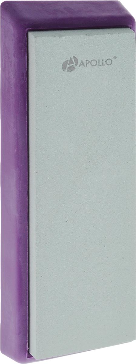 Точильный камень Apollo Zorro, цвет: фиолетовый, светло-зеленый, 4 х 13 смZRR-01_фиолетовыйТочильный камень Apollo Zorro, изготовленный из зеленого карборунда, предназначен для основной заточки кухонных ножей из нержавеющей стали с прямым лезвием и одинаково удобен как для правшей, так и для левшей. Камень расположен на подставке, которая не скользит, чем обеспечивается дополнительный комфорт и безопасность во время процесса заточки. Зернистость камня: 1000. Размер камня: 4 х 13 см. Размер камня с подставкой: 5 х 14,5 х 1,5 см.
