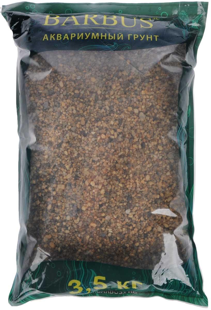 Грунт для аквариума Barbus Горный, натуральный, кварц, 2-7 мм, 3,5 кгGRAVEL 001/3,5Натуральный природный грунт в виде мелкого камня и кварца Barbus Горный прекрасно подходит для применения в пресноводных аквариумах, а также в палюдариумах и террариумах. Грунт является субстратом для укоренения водных растений и служит неотъемлемой частью естественной среды обитания рыб. Безопасен для всех видов рыб и для живых растений. Рекомендуется перед использованием грунт промыть. Средняя норма засыпки пакета грунта рассчитана на 20 литров воды стандартных размеров аквариума. Фракция: 2-7 мм.