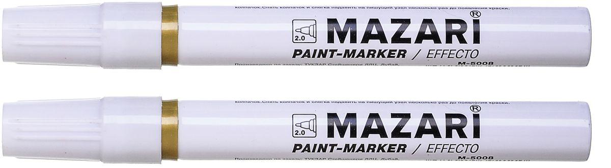 Mazari Маркер-краска Effecto цвет золотистыйМ-5008_золотистыйМаркер-краска, EFFECTO, ЗОЛОТОЙ, пулевидный пиш.узел 2 мм.