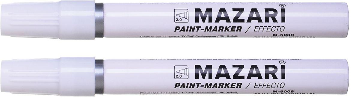 Mazari Маркер-краска Effecto цвет серебристыйМ-5008_серебристыйМаркер-краска, EFFECTO, СЕРЕБРЯНЫЙ, пулевидный пиш.узел 2 мм