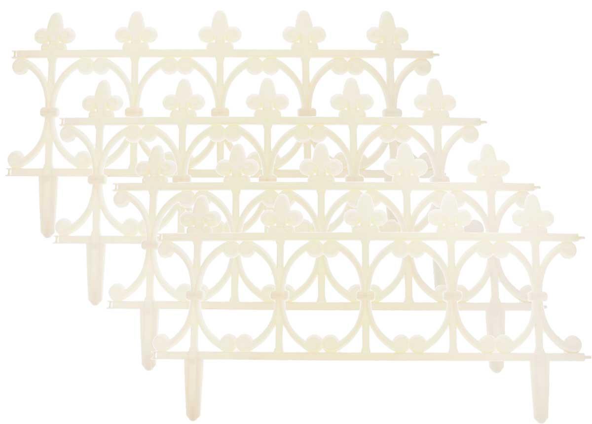 Ограждение садовое декоративное InGreen Корсика, 4 штING60008СЛК-13РОграждение садовое InGreen Корсика предназначено для декоративного оформления границ цветников, клумб, газонов, садовых дорожек и площадок. Изделие изготовлено из прочного полипропилена. Легко и быстро собирается, надежно крепится в земле. Скрепляются при помощи простого замка. Размер ограждения: 64,5 х 0,8 х 34 см. Количество ограждений в упаковке: 4 шт.