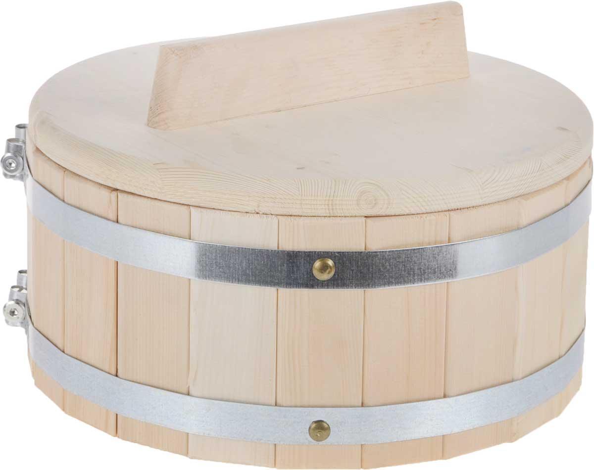 Кадка для бани Доктор Баня, 5 л. 83278327Кадка Доктор Баня, изготовленная из кедра, доставит вам настоящее удовольствие от банной процедуры. При запаривании веник обретает свою природную силу и сохраняет полезные свойства. Корпус кадки состоит из металлических обручей стянутых клепками. Для более удобного использования кадка снабжена крышкой с ручкой. Высота кадки (с учетом крышки): 19,5 см. Диаметр кадки: 30,5 см. Объем: 5 л.