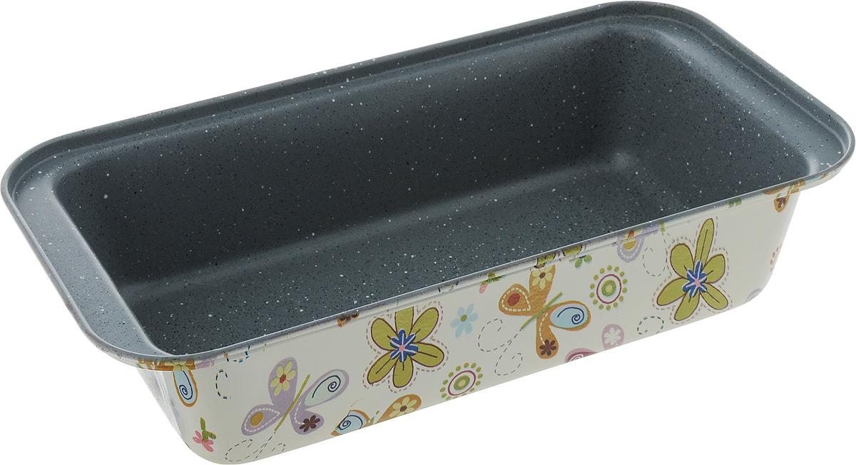 Форма для выпечки хлеба Fissman, прямоугольная, с антипригарным покрытием, 27,5 x 15 x 7 смBW-5620.27Прямоугольная форма для выпечки Fissman изготовлена из углеродистой стали с антипригарным покрытием TouchStone. Не содержит в составе вредных веществ. Внешние стенки декорированы оригинальным рисунком. Такая форма найдет свое применение для выпечки большинства кулинарных шедевров. Форма равномерно и быстро прогревается, выпечка пропекается равномерно. Благодаря антипригарному покрытию, готовый продукт легко вынимается, а чистка формы не составит большого труда. Какое бы блюдо вы не приготовили, результат будет превосходным! Форма подходит для использования в духовке с максимальной температурой 240°С. Перед каждым использованием форму необходимо смазать небольшим количеством масла. Чтобы избежать повреждений антипригарного покрытия, не используйте металлические или острые кухонные принадлежности. Не рекомендуется мыть в посудомоечной машине. Размер формы по верхнему краю: 27,5 х 15 см. Высота стенки: 7 см.