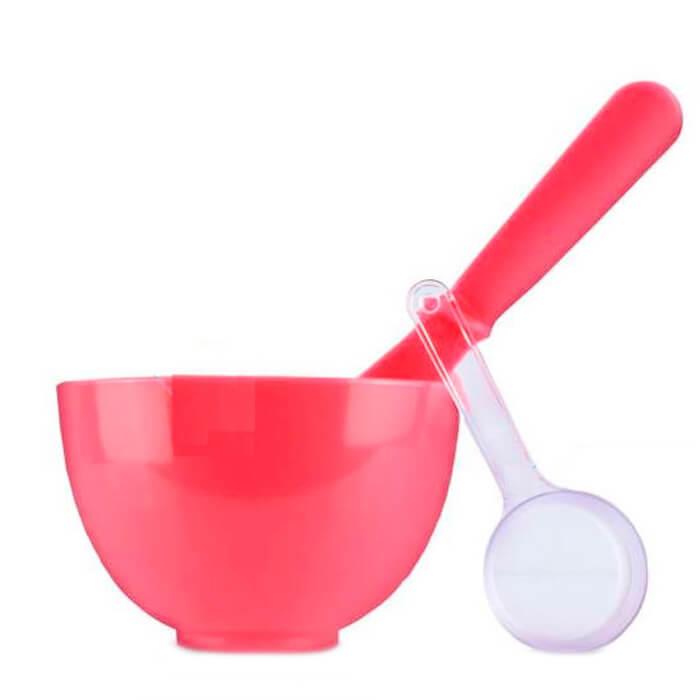 Anskin Набор для нанесения альгинатных масок Beauty Set Red (Rubber Ball Small/Spatula middle/Measuring Cup)