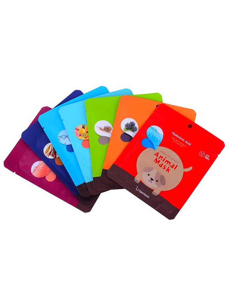 Berrisom Набор тканевых масок Animal Mask Series Set, 7*25 млБР1Забавные тканевые маски с изображением различных животных. Маска хорошо увлажняет и питает кожу, приводит усталую кожу в прекрасный вид. Наполняет ее витаминами и экстрактами. Основные ингредиенты масок: керамиды и ледниковая вода. В коллекции представлены семь различных вариантов масок. Основные ингредиенты: экстракт желтого лотоса, гиалуроновая кислота, экстракт солодки, экстракт имбиря, экстракт лимонника, аллантоин, экстракт зеленого чая.