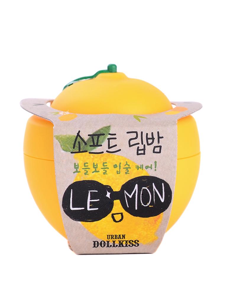 Urban Dollkiss Бальзам для губ лимон Lemon Soft Lip Balm, 6 грБХ24Увлажняющий, смягчающий и питающий кожу бальзам для губ Lemon Soft Lip Balm. Бальзам содержит масло ши, эффективно питающее, увлажняющее губы и придающее им мягкость, витамины А, С и Е, смягчающие и восстанавливающие сухую, потрескавшуюся кожу губ и способствующие скорейшему заживлению.
