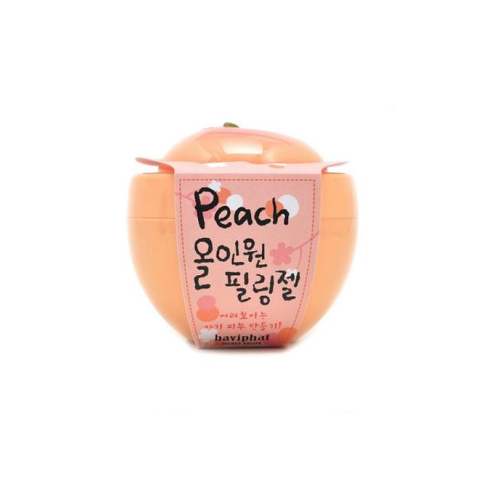 Baviphat Пилинг-скатка персиковая Все-в-одном Peach All-in-one Peeling gel, 100 млБХ33Гелевый пилинг-гоммаж на основе целлюлозы мягко отшелушивает омертвевшие клетки эпидермиса. Целлюлоза в процессе массажа захватывает кератин, кожный жир и загрязнения, и деликатно очищает кожу, не повреждая ее. Пилинг глубоко очищает поры, препятствует гиперкератозу и образованию комедонов, улучшает цвет лица. Экстракт персика, содержащий фруктовые кислоты, амигдалин, ликопин, витамин B15, увлажняет, осветляет и улучшает тон кожи, делает ее яркой и сияющей. Пилинг глубоко очищает и освежает кожу и стимулирует образование здоровых клеток эпидермиса.