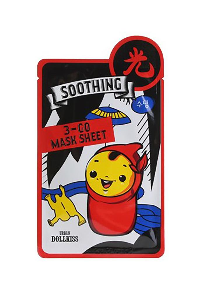 Urban Dollkiss Маска тканевая успокаивающая 3-GO Mask Sheet Soothing, 25 грБХ335Тканевая маска с витаминами обеспечит вашу кожу всем необходимым: увлажнением, питанием, восстановлением, энергией и здоровьем! Это высокоэффективное средство оказывает превосходное действие на кожу, мгновенно улучшая ее состояние и радуя вас превосходным результатом уже после первого применения! В основе формулы маски лежит натуральный витаминный комплекс, который насыщает клетки влагой, кислородом и полезными микроэлементами. В состав маски входят незаменимые для красоты кожи витамины А, С, Д, Е, В12, а также кальций, натуральные экстракты портулака и алоэ вера. Содержащийся в формуле маски активный ингредиент Aminosan способствует интенсивному смягчению кожи, заметно выравнивает рельеф и делает ее очень шелковистой. Благодаря высокому содержанию полезных для кожи витаминов, маска оказывают мощное антиоксидантное и восстанавливающее действие, тонизирует, увлажняет, питает, оздоравливает кожу, повышает ее иммунитет, ускоряет обменные процессы, улучшает тургор и придает свежий...