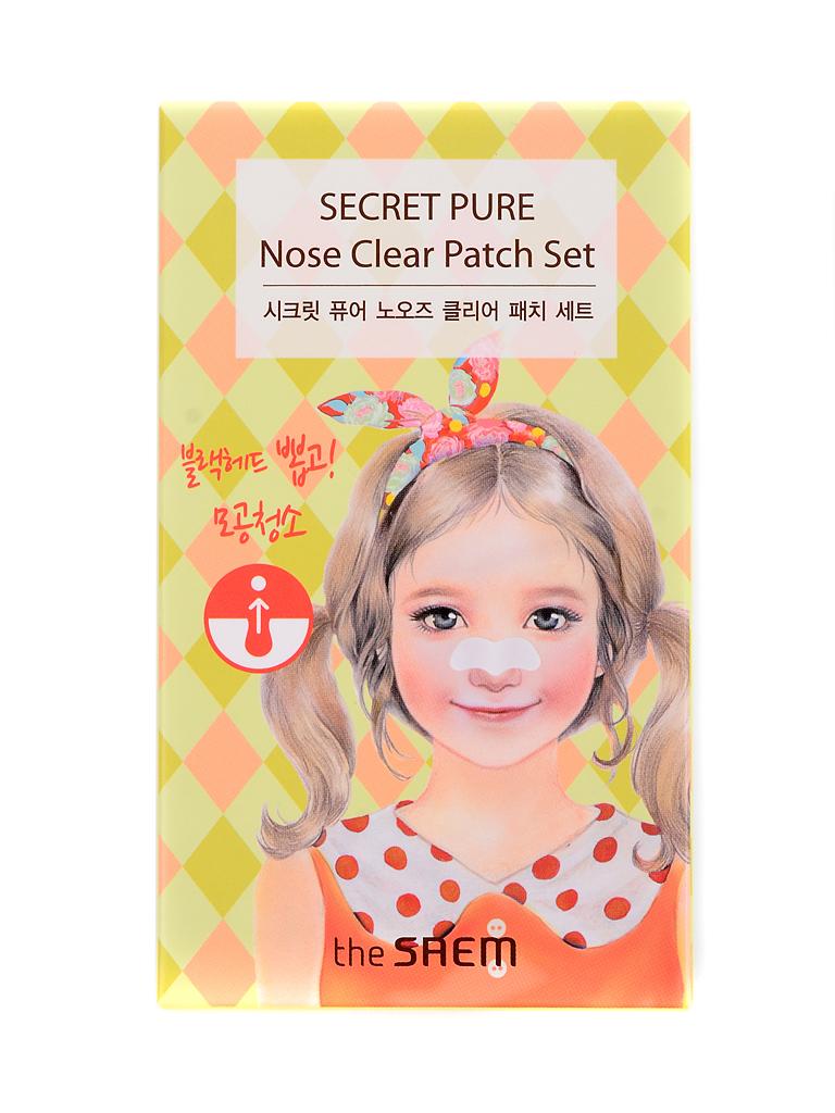 The Saem Набор пластырей против акне Secret Pure Nose Clear Patch Set (8pcs), 8 штукСМ1265Патч для удаления угрей и черных точек The Saem Secret Pure Nose Clear Patch содержит эссенцию, которая раскрывает поры, растворяет угри и сальные пробки в порах.