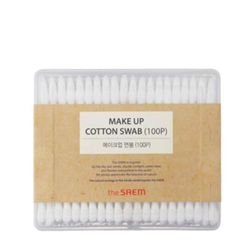 The Saem Ватные палочки Makeup Cotton Swab (100P), 100 штукСМ1721Косметические палочки, изготовленные из 100% натурального хлопка и древесины. Незаменимое средство для макияжа и демакияжа, а также гигиены наружного уха. Обладают хорошей прочностью, плотно скручены, благодаря чему вата не сползает и не пушится. При этом в меру мягкие, что позволяет прекрасно впитывать влагу и очищать от загрязнений, доставляя комфорт при использовании. Герметичная упаковка надежно защищает 100 палочек от пыли и влаги.