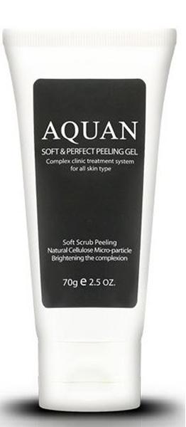 Anskin Пилинг-гель для лица Aquan Soft & Perfect Peeling Gel, 70 млАН71Пилинг-гель осторожно очищает кожный покров от мертвых клеток, разглаживает морщины, кожа становится матовой и гладкой. Природные частицы целлюлозы, витамин Е и экстракт алоэ, входящий в состав геля, питает и увлажняет кожу лица, улучшает подкожную циркуляцию крови, также улучшает проникновение кислорода в клетки кожи. Гель не содержит парабенов, минеральных масел, искусственных красителей. Экстракт портулака, пантенол, витаминный комплекс EX BSASM Skin Calm Plus защищает кожу от внешних воздействий, кожа становится еще более сияющей, упругой и эластичной.