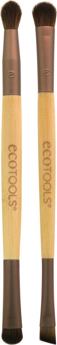 EcoTools Набор из двух кистей для макияжа глаз Eye Enhancing Duo Set1217МНабор из 2-х двусторонних кистей в удобном клатче для хранения и транспортировки . Заменит в вашей косметичке 4 кисти, необходимые для создания полноценного макияжа глаз: - плоскую закругленную кисть для нанесения основного оттенка - плотную кисть с коротким ворсом для прорисовки складки века - пушистую круглую кисть для безупречной растушевки - ультратонкую плоскую скошенная кисть для подводки.