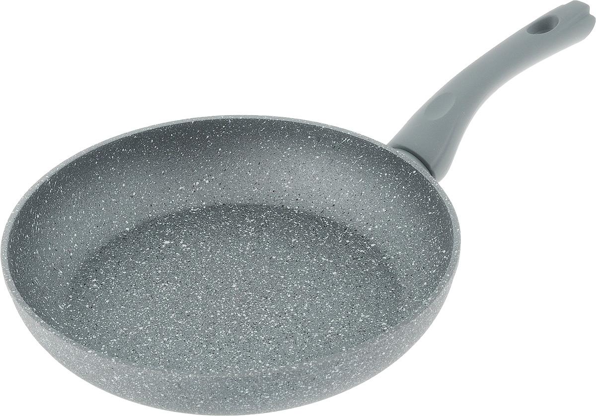 Сковорода Fissman Rock Stone, с антипригарным покрытием. Диаметр 26 смAL-4432.26Сковорода Fissman Rock Stone изготовлена из алюминия с усиленным антипригарным покрытием PlatinumForte, состоящего из нескольких слоев натуральной каменной крошки на основе минеральных компонентов с добавлением пищевого силикона. Такое покрытие долговечно и безопасно для здоровья и окружающей среды, оно обладает великолепными антипригарными свойствами. Сковорода оснащена удобной бакелитовой ручкой, которая не нагревается в процессе приготовления пищи и не скользит в мокрых руках. Сковорода Fissman Rock Stone создана, чтобы удовлетворить потребности самых взыскательных кулинаров и профессиональных шеф-поваров. Это результат сочетания уникального производственного процесса, современного дизайна, непревзойденного качества и использования передовых сертифицированных материалов. Подходит для использования на газовых, электрических и стеклокерамических плитах, а также на индукционных. Можно мыть в посудомоечной машине. Высота...