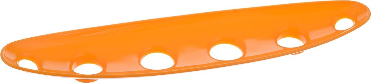 Миска для фруктов и овощей Tescoma Vitamino, продольная, цвет: оранжевый, 35 х 8 х 2,5 см642786_оранжевыйПродольная миска Tescoma Vitamino выполнена из высококачественного прочного пластика. Изделие прекрасно подходит для хранения свежих овощей и фруктов, например, яблок, груш, слив, мандаринов, помидоров, а также для ополаскивания их под проточной водой. Миска оснащена большими отверстиями для максимального доступа воздуха к хранимым продуктам. Фрукты и овощи в таком изделии дозревают естественным путем и дольше остаются свежими. Подходит для холодильника и посудомоечной машины. Размер миски: 35 х 8 х 2,5 см.