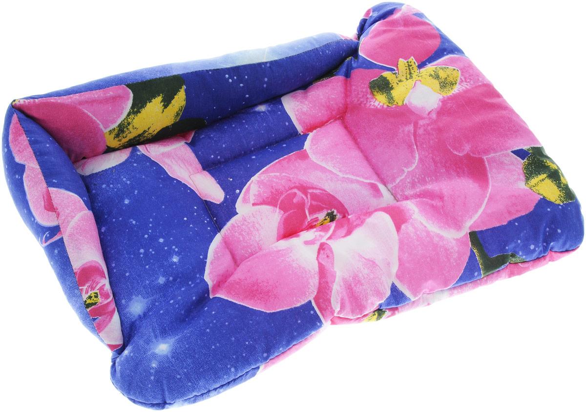 Лежак для животных Elite Valley Софа, цвет: синий, розовый, 50 х 38 х 12 см. Л-5/2Л-5/2_синий, розовыйЛежак для животных Elite Valley Софа изготовлен из высококачественной бязи, наполнитель - холлофайбер. Он станет излюбленным местом вашего питомца, подарит ему спокойный и комфортный сон, а также убережет вашу мебель от многочисленной шерсти. На таком лежаке вашему любимцу будет мягко и тепло.