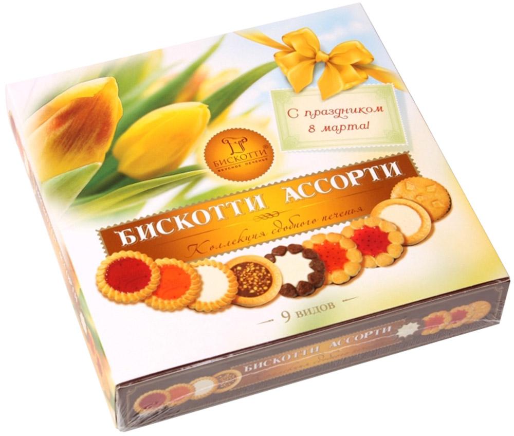 Бискотти Ассорти печенье сдобное, 345 г