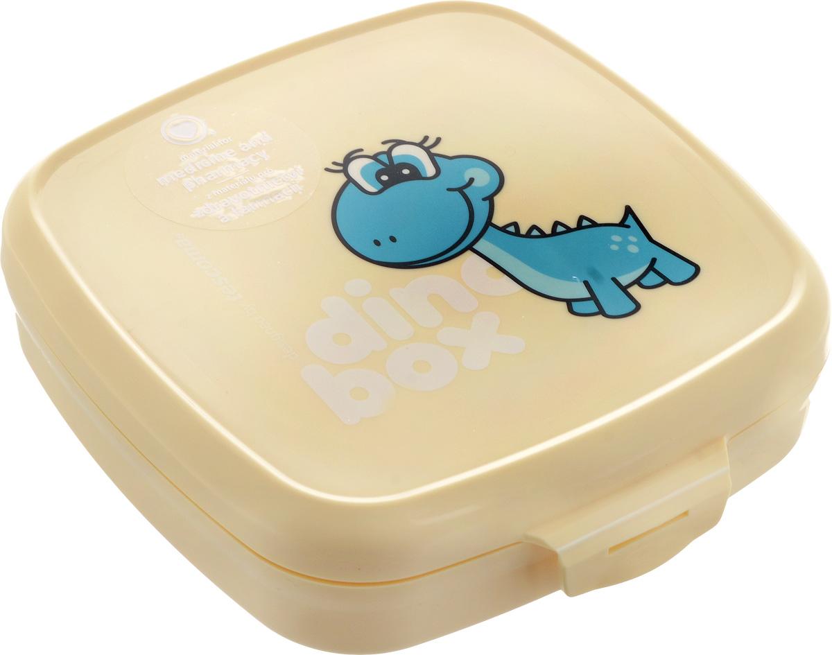 Контейнер пищевой Tescoma Dino668334Если вы сторонники здорового образа жизни, тогда вы по достоинству оцените контейнер Tescoma Dino. Он сделан из сертифицированного материала, легкий и удобный в использовании, а также выполнен в веселом дизайне, который обязательно оценят дети. Контейнер предназначен для упаковки и дальнейшей переноске закусок и легких обедов в школу, в поездку, на тренировку. Материал, из которого изготовлен пластиковый контейнер Tescoma Dino, прошел через десятки строгих тестов и гарантированно не содержит опасные и вредные вещества. На контейнере выполнена качественная печать изображения динозавра, которая отлично сохраняется даже во время интенсивной мойки посуды. Можно мыть в посудомоечной машине. Размер контейнера: 15 х 15 х 4,5 см.