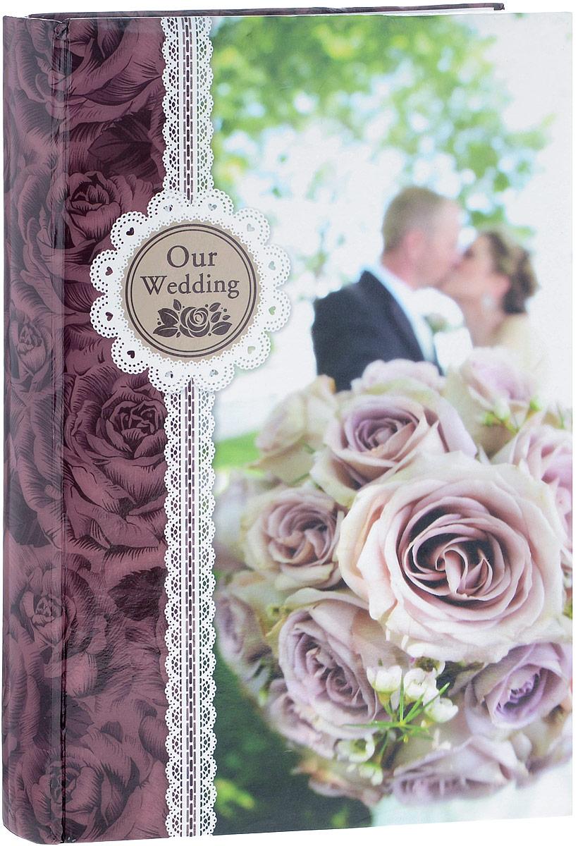 Фотоальбом Platinum Наша свадьба - 2, 300 фотографий, 10 х 15 см, цвет: бордовый, розовый, зеленый. С-46300RCL32021_розы/С-46300RCLФотоальбом Platinum Наша свадьба - 2 поможет красиво оформить ваши фотографии. Обложка выполнена из толстого картона и декорирована оригинальным рисунком. Внутри содержится блок из 50 листов с фиксаторами-окошками из полипропилена. Альбом рассчитан на 300 фотографий формата 10 х 15 см (по 3 фотографии на странице). Листы имеют поля для подписи. Переплет - книжный. Нам всегда так приятно вспоминать о самых счастливых моментах жизни, запечатленных на фотографиях. Поэтому фотоальбом является универсальным подарком к любому празднику. Количество листов: 50.