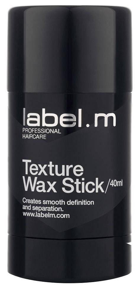 Label.m Текстурирующий воск 40 млLFWS0040Текстурирующий воск в стике уменьшает пушение, делает волосы гладкими и блестящими. Прекрасно подходит для создания актуальной текстуры и выделения отдельных прядей. Мягкий и легкий в применении воск станет для Вас незаменимым средством при создании модных образов: от идеального хвоста до рваных матовых укладок.