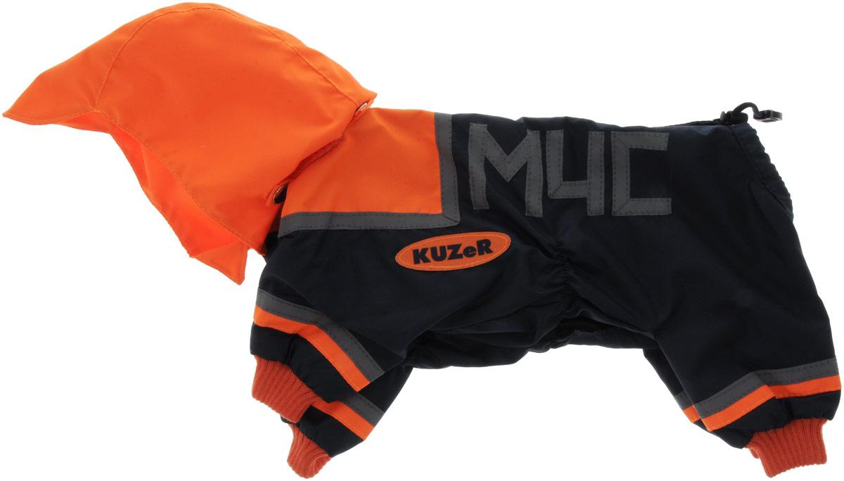 Комбинезон для собак Kuzer-Moda МЧС, для мальчика, двухслойный, цвет: черный, оранжевый. Размер XLKZ001738Комбинезон Kuzer-Moda МЧС предназначен для собак мелких пород. Изделие отлично подойдет для прогулок в прохладную погоду. Комбинезон изготовлен из прочной ткани, которая сохранит тепло и обеспечит отличный воздухообмен. Комбинезон застегивается на кнопки, благодаря чему его легко надевать и снимать. Ворот, низ рукавов и брючин оснащены резинками, которые мягко обхватывают шею и лапки, не позволяя просачиваться холодному воздуху. На пояснице имеются затягивающиеся шнурки, которые также помогают сохранить тепло. Благодаря такому комбинезону простуда не грозит вашему питомцу, и он не даст любимцу продрогнуть на прогулке. Размер: XL. Обхват: груди: 50 см. Обхват шеи: 18 см.