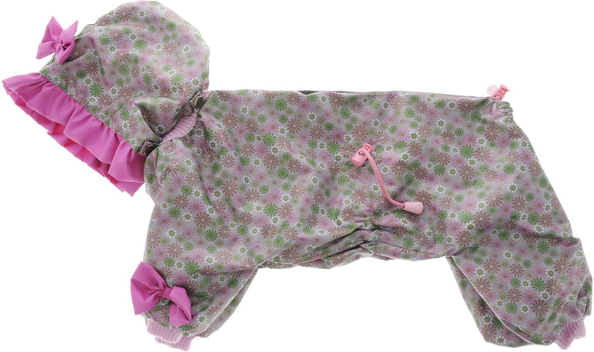 Комбинезон для собак Kuzer-Moda Мариска, для девочки, двухслойный, цвет: серый, розовый. Размер 27KZ002310_серыйКомбинезон Kuzer-Moda Мариска предназначен для собак мелких пород. Изделие отлично подойдет для прогулок в прохладную погоду. Комбинезон изготовлен из прочной ткани, которая сохранит тепло и обеспечит отличный воздухообмен. Комбинезон застегивается на кнопки и липучки, благодаря чему его легко надевать и снимать. Ворот, низ рукавов и брючин оснащены резинками, которые мягко обхватывают шею и лапки, не позволяя просачиваться холодному воздуху. На пояснице имеются затягивающиеся шнурки, которые также помогают сохранить тепло. Благодаря такому комбинезону простуда не грозит вашему питомцу, и он не даст любимцу продрогнуть на прогулке. Размер: 27. Обхват: груди: 50 см. Обхват шеи: 20 см.