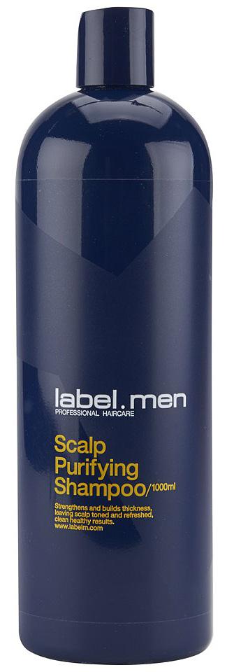 Label.m Шампунь для очищения кожи головы 1000 млLSSC1000Эксклюзивная и уникальная формула разработана с учётом особенностей мужских волос. Мятный ежедневный шампунь для мягкого очищения всех типов волос. Создан специально для мужчин с использованием нового уникального набора ингредиентов: eleMENts комплекса и технологии Микронизации. Укрепляет и придаёт волосам густоту, тонизирует и освежает кожу головы, чистые и здоровые волосы. Используется в качестве ежедневного продукта.