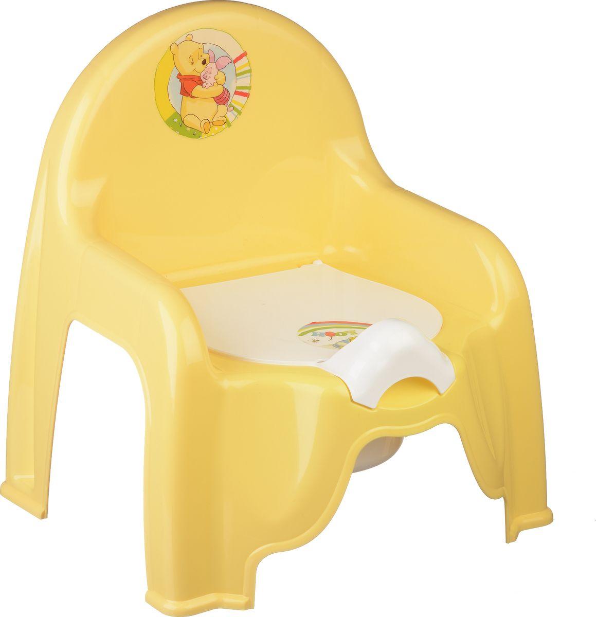 Disney Горшок-стульчик детский цвет банановый М 2596-Д