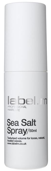 Label.m Спрей морская соль 50 млLFSE0050Создает слегка небрежную текстуру. Придает матовость волосам, подчеркивает структуру, делает волосы подвижными. Инновационный комплекс Enviroshield защищает волосы от термического воздействия во время укладки и от УФ лучей.
