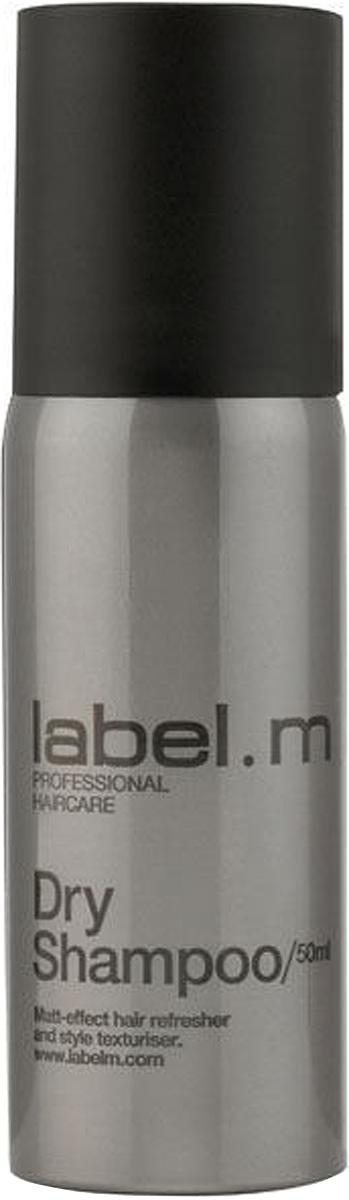 Label.m Сухой шампунь 50 млLFDS0050Легкий микроспрей абсорбирует естественные загрязнения и остатки укладочных средств с сухих волос, позволяя освежить прическу, не прибегая к мытью головы. Создает матовую текстуру с пудровым эффектом.