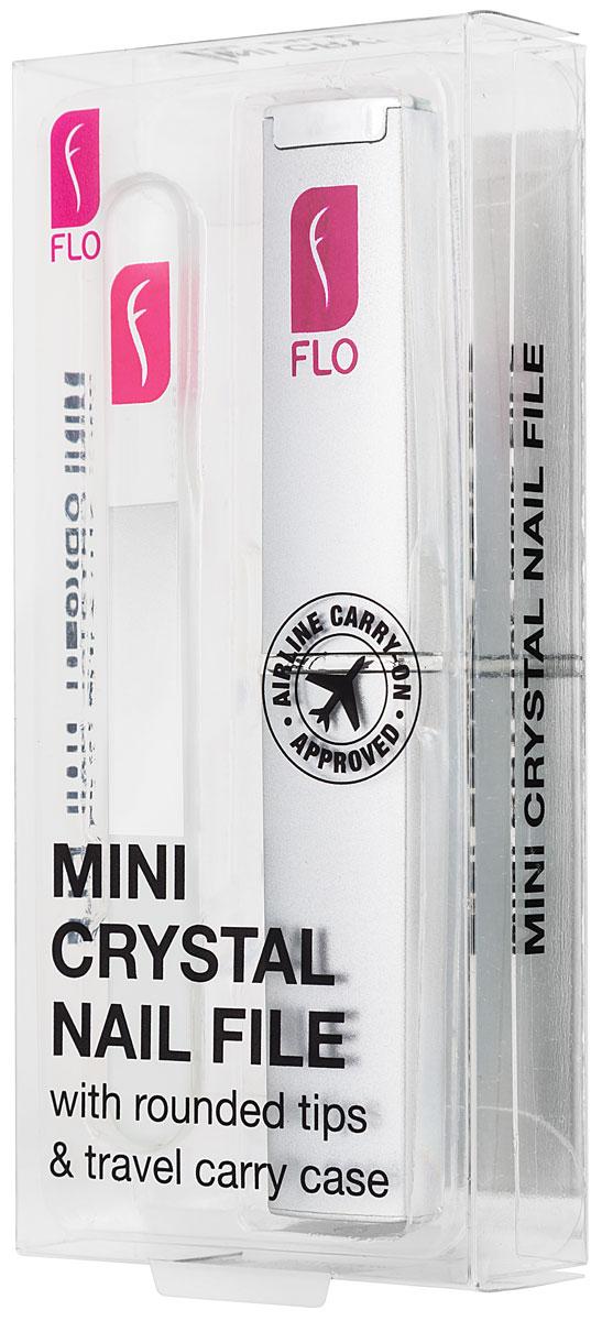 Flo Маникюрная пилка Travel Crystal, с футляром, цвет: прозрачныйFP-720-600Стеклянная пилочка для ногтей 90 мм. Защищена противоударным чехлом. Материал: стекло, пластик