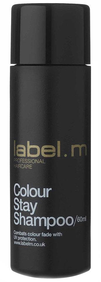 Label.m Шампунь защита цвета 60 млLSCS0060Закрепляет молекулы красителя в волосе и защищает цвет, благодаря уникальному сочетанию протеинов пшеницы и сои, гидролизованного шелка и экстракта подсолнуха. Гелиогенол препятствует вымыванию и выгоранию цвета. Эксклюзивный комплекс Enviroshield предохраняет волосы от термического воздействия во время укладки и от УФ лучей.