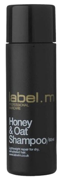 Label.m Шампунь питательный мёд и овёс 60 млLSHO0060Восстанавливает сухие, обезвоженные волосы, не перегружая их. Экстракты меда, овсяных зерен и морских водорослей прекрасно очищают. Эксклюзивный комплекс Enviroshield предохраняет волосы от термического воздействия во время укладки и от УФ лучей.