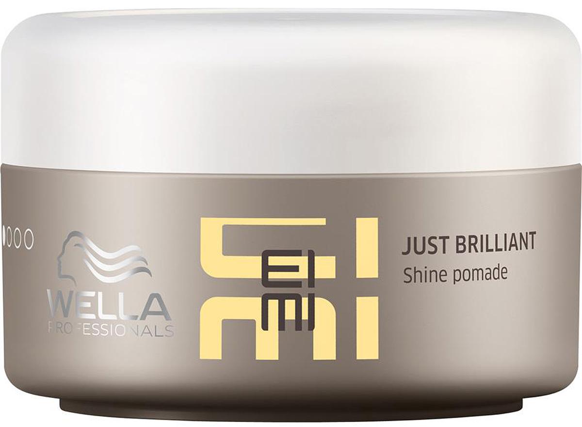 Wella Помада для придания блеска волосам EIMI Just Brilliant -75 мл81516056/3057Помада для придания блеска Just Brilliant предназначена для облегчения укладки, придания неотразимого блеска волосам и их защите от ультрафиолетового воздействия солнечных лучей и прочего негативного внешнего воздействия. В результате воздействия помады для блеска волосы приобретают гладкость и шелковистость, получают дополнительное питание, а способность средства к эластичной фиксации позволяет вам бесконечное число раз видоизменять прическу. Средство является новинкой 2016 г. С новым стайлингом EIMI от Wella Professionals вы всегда сможете подчеркнуть свою индивидуальность, которая является самым актуальным трендом современной моды.