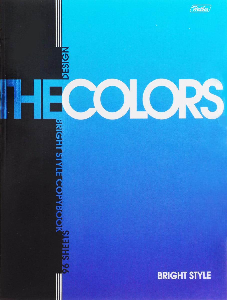 Hatber Тетрадь The Colors 96 листов в клетку цвет синий96Т5мтВ1_14480_синийТетрадь Hatber The Colors отлично подойдет для занятий школьнику, студенту или для различных записей. Обложка выполнена из плотного металлизированного картона и украшена изображением английских букв. Внутренний блок тетради, соединенный металлическими скрепками, состоит из 96 листов белой бумаги в клетку с полями.