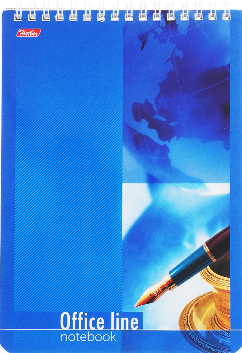 Hatber Блокнот Office Line 60 листов в клетку цвет синий