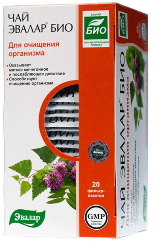 Чай БИО Чай Эвалар Био для очищения организма в фильтр-пакетах, 20 шт 4602242007524