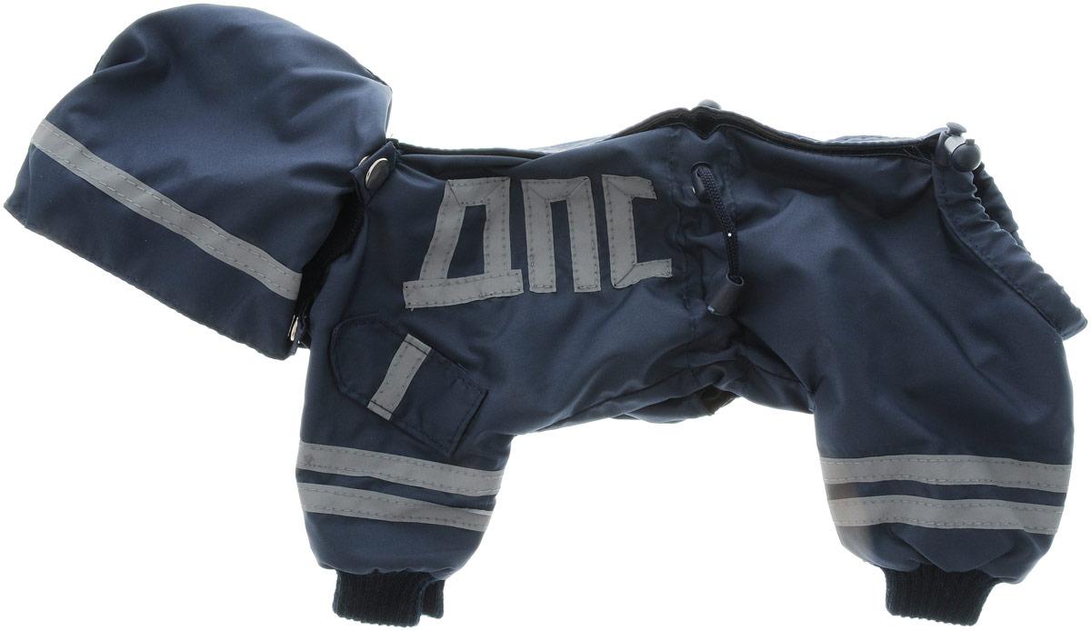 Комбинезон для собак Kuzer-Moda ДПС, для мальчика, двухслойный. Размер 25KZ002993Комбинезон Kuzer-Moda ДПС предназначен для собак мелких пород. Изделие отлично подойдет для прогулок в прохладную погоду. Комбинезон изготовлен из прочной ткани, которая сохранит тепло и обеспечит отличный воздухообмен. Комбинезон застегивается на кнопки и липучки, благодаря чему его легко надевать и снимать. Ворот, низ рукавов и брючин оснащены резинками, которые мягко обхватывают шею и лапки, не позволяя просачиваться холодному воздуху. На пояснице имеются затягивающиеся шнурки, которые также помогают сохранить тепло. Благодаря такому комбинезону простуда не грозит вашему питомцу, и он не даст любимцу продрогнуть на прогулке. Размер: 25. Обхват: груди: 36 см. Обхват шеи: 16 см.